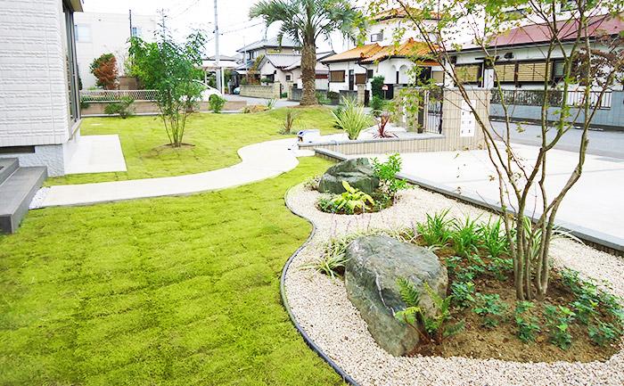 庭に躍動感が生まれ、家も庭もさらに魅力を増します